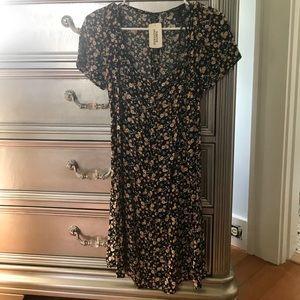Forever 21 floral black mini dress
